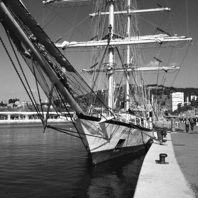"""Malaga Harbor"" stock image"