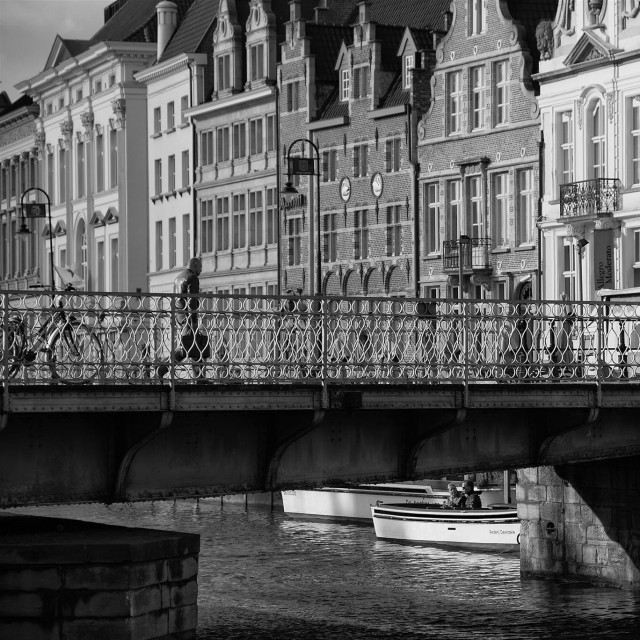 """""""The Streets of Ghent"""" stock image"""
