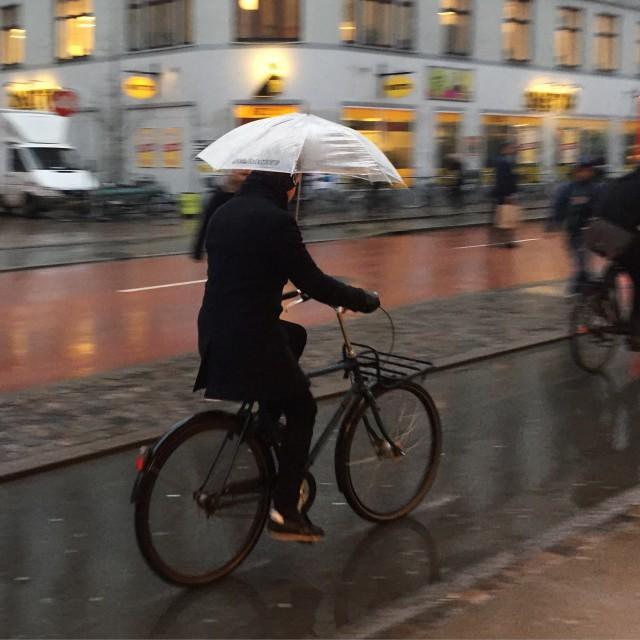 """Copenhagen Biking"" stock image"