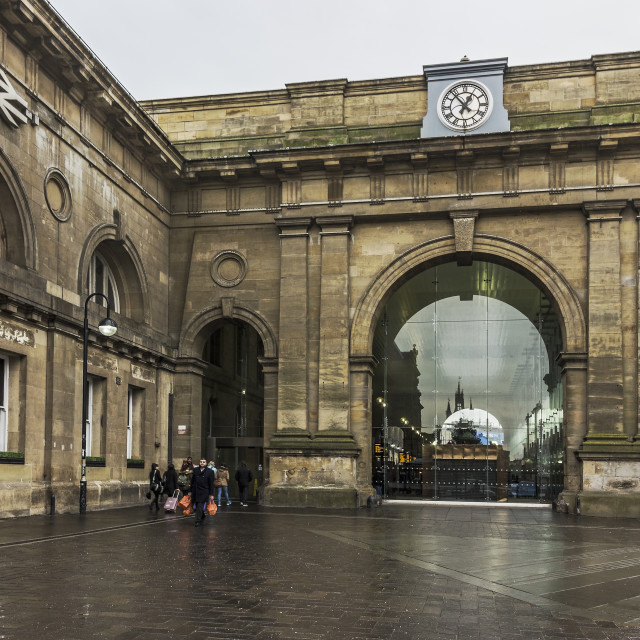 """""""Exterior of Newcastle Central Station"""" stock image"""