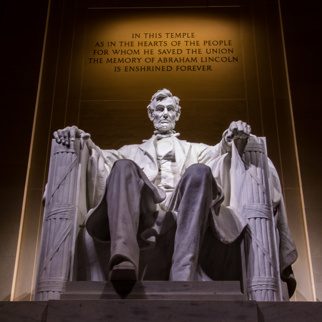 """President Lincoln"" stock image"