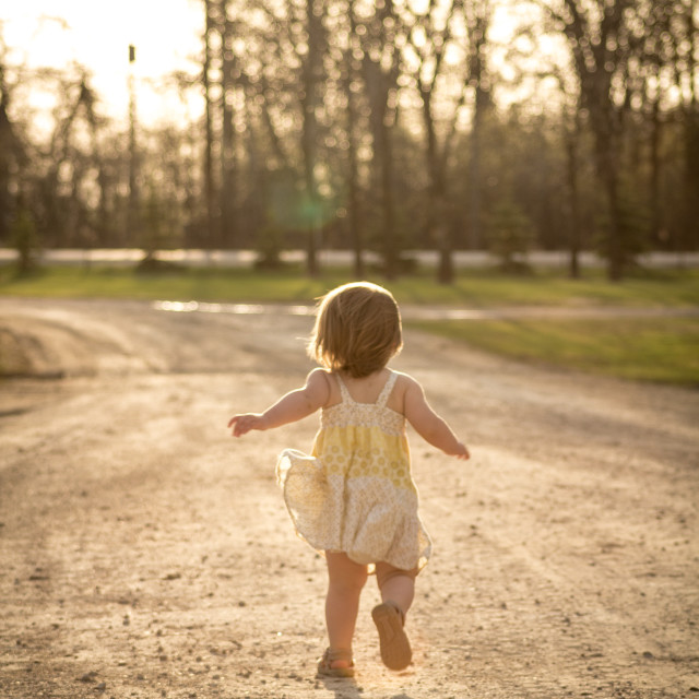 """""""Child Running"""" stock image"""
