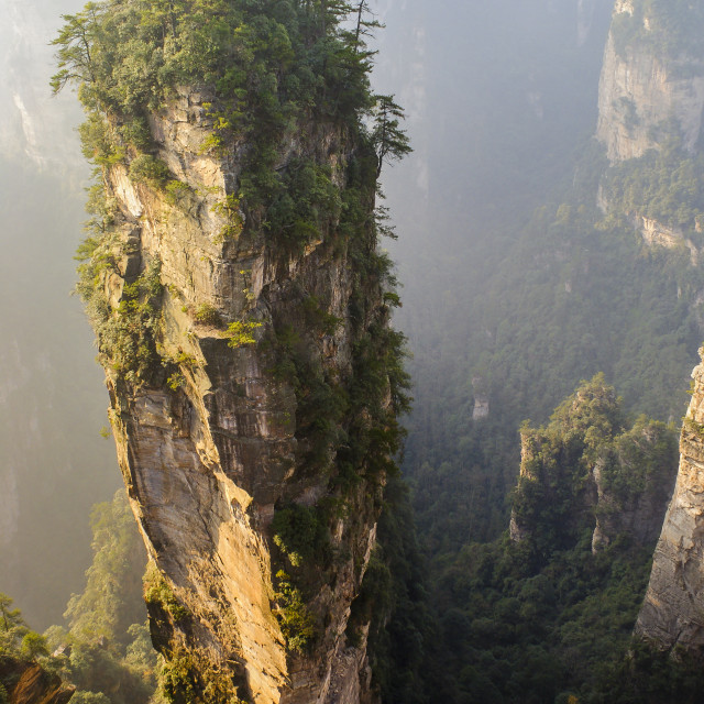 """Rock Canyon, China"" stock image"