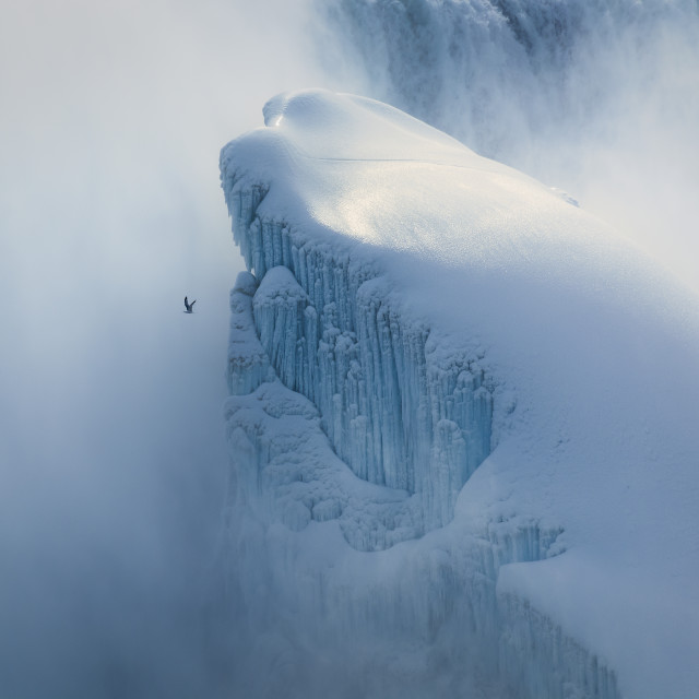 """Frozen Niagara Falls"" stock image"