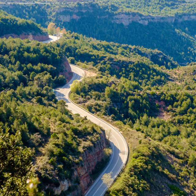 """Road in Montserrat, Catalonia"" stock image"