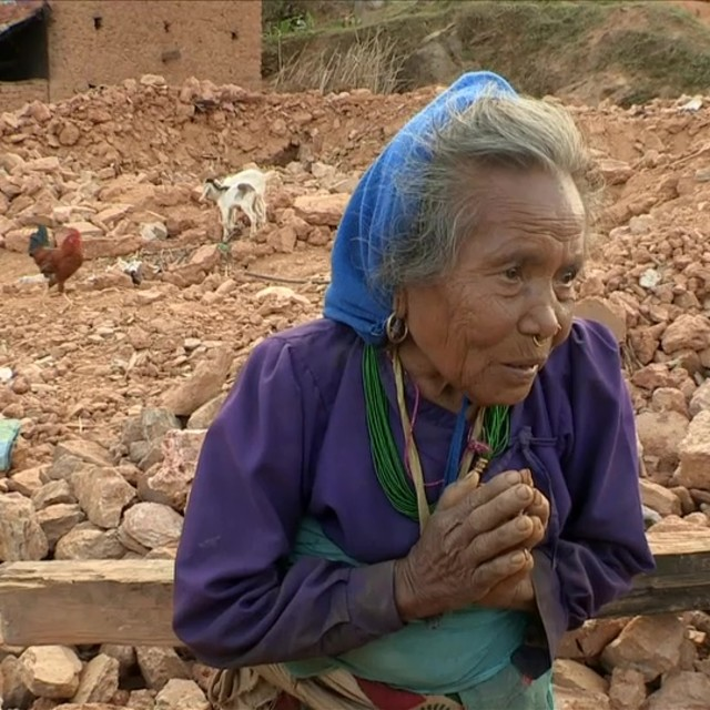 """Earthquake survivor"" stock image"