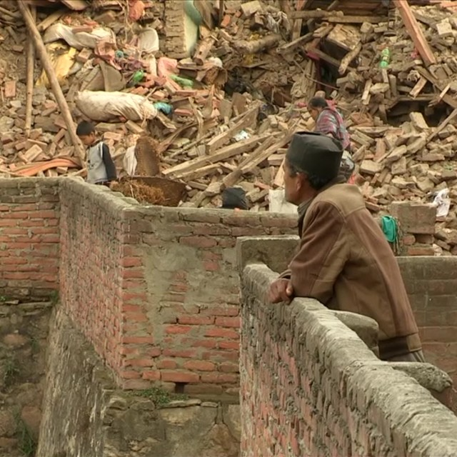 """Nepal earthquake series"" stock image"