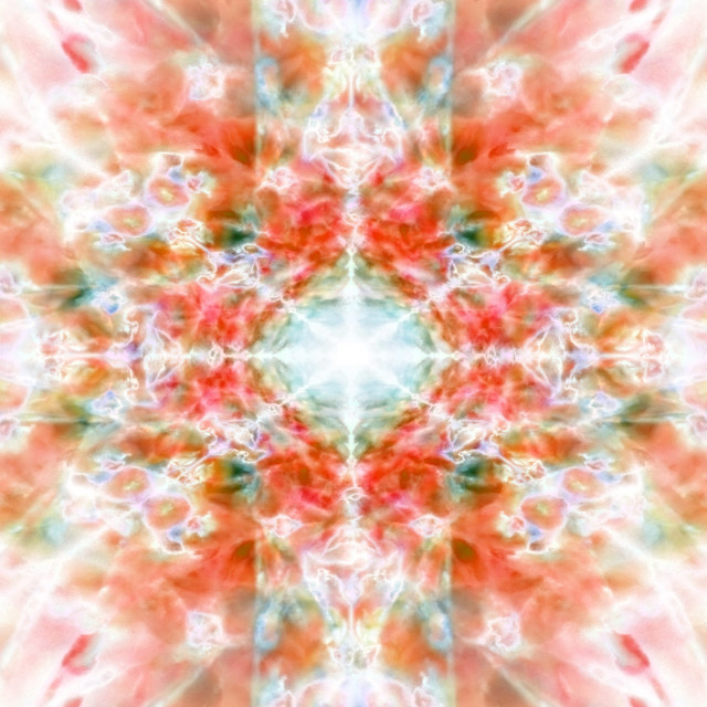 """Orange kaleidoscope background"" stock image"