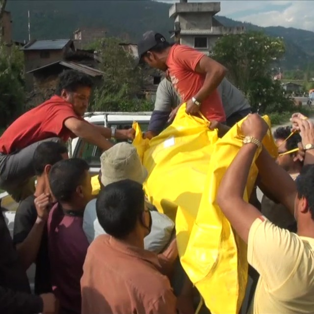 """Nepal earthquake series"" stock image"