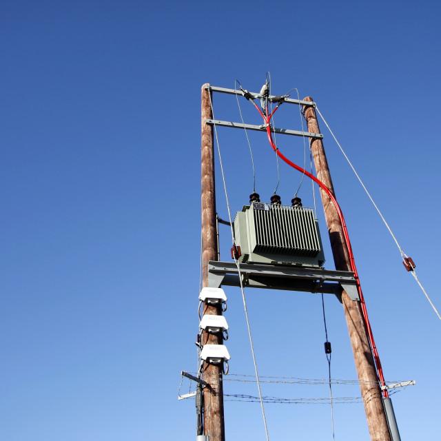 """Electric transformer substation"" stock image"