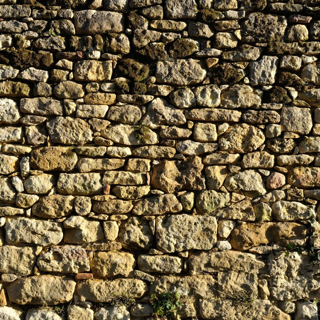 """Solid wall made of stone"" stock image"