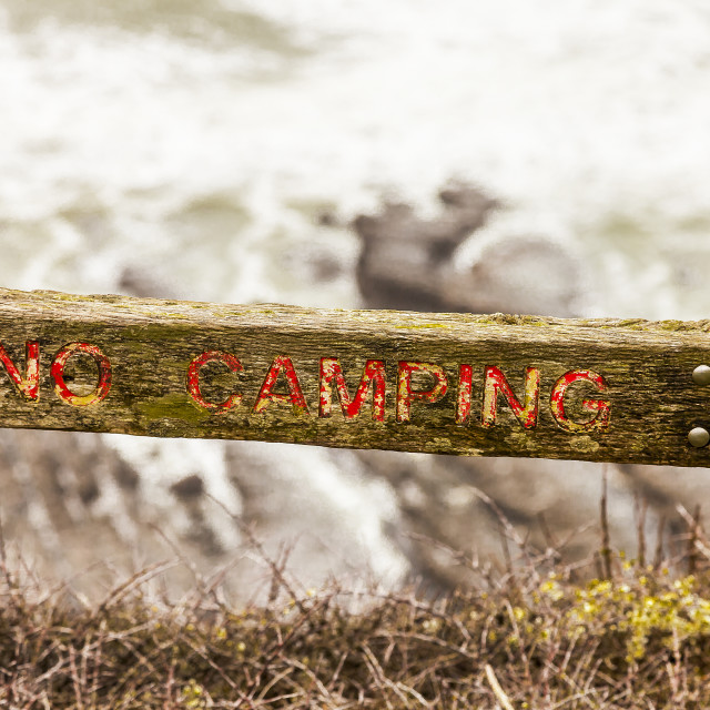 """No camping"" stock image"