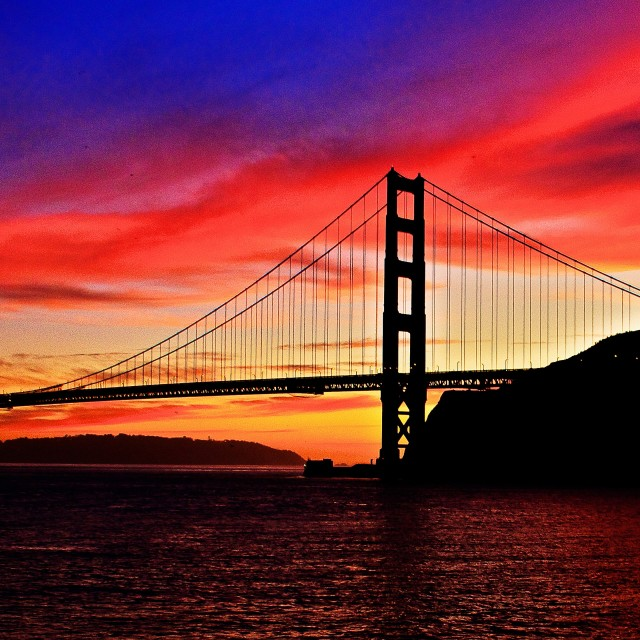 """""""Sunset By The Bay"""" stock image"""