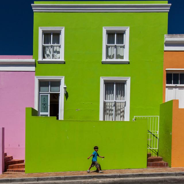 """Street scene, Cape Town"" stock image"