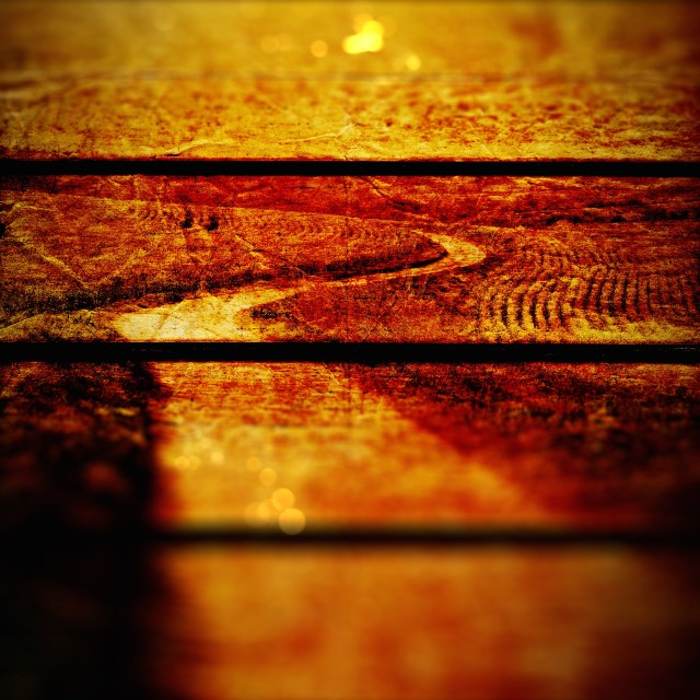 """""""Winding Road Grungy Wooden Panels Texture Background"""" stock image"""