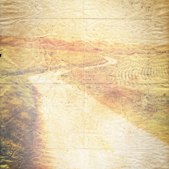 """""""Winding Road Old Paper Texture Background"""" stock image"""