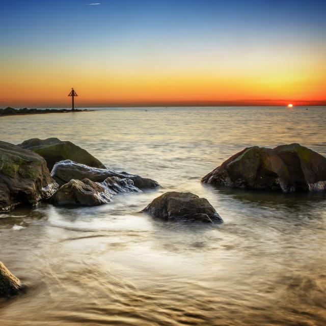 """Sunset Into the Horizon"" stock image"