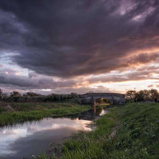 """Pocklington Canal Sunset 1"" stock image"