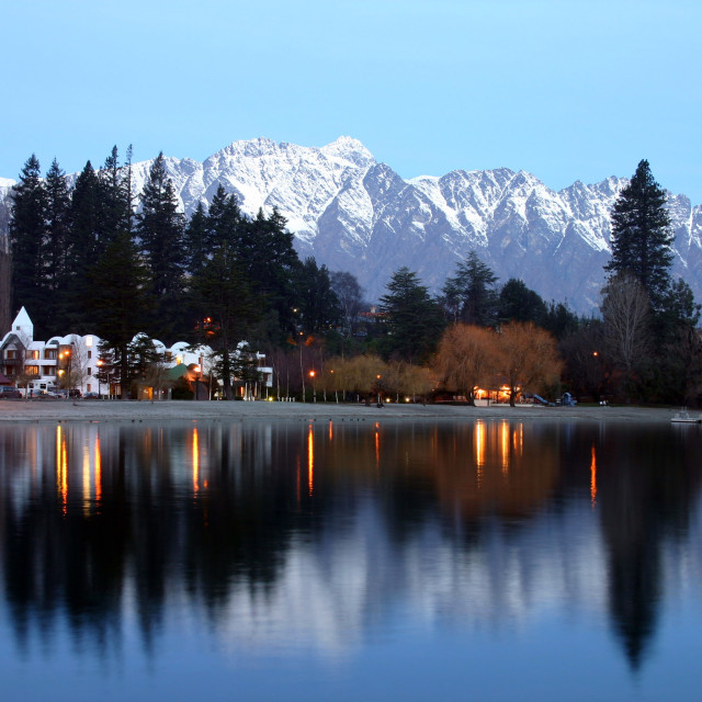 """Reflections of the Remarkables"" stock image"