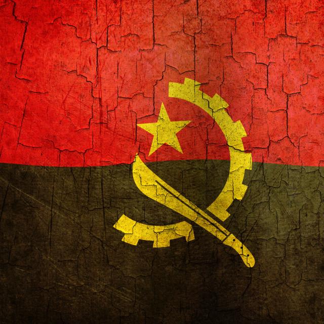 """""""Grunge Angola flag"""" stock image"""