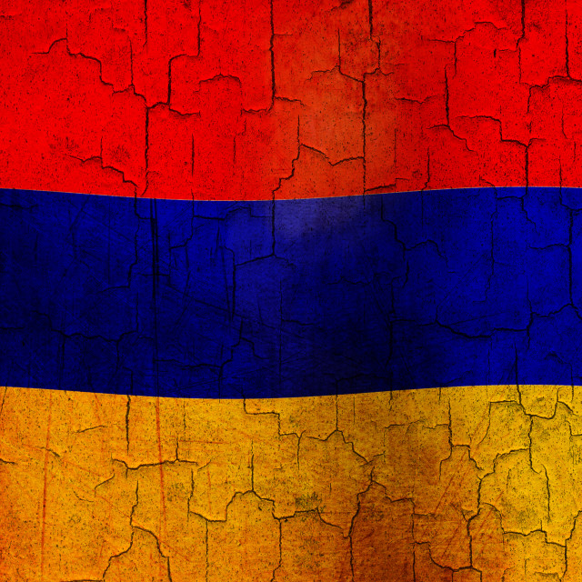 """Grunge Armenia flag"" stock image"