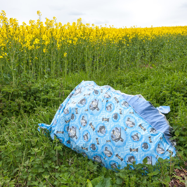 """Illegal Fly Tipping"" stock image"