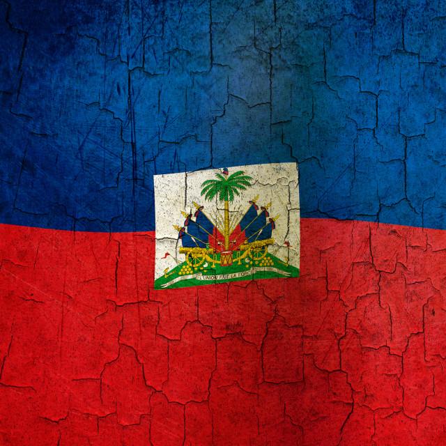"""""""Grunge Haiti flag"""" stock image"""