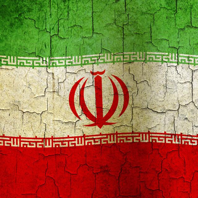 """""""Grunge Iran flag"""" stock image"""