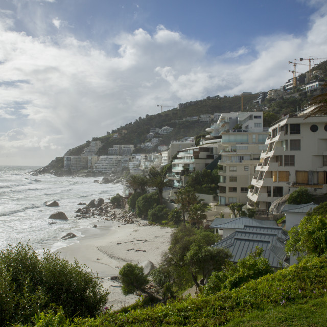 """View of Clifton beach"" stock image"