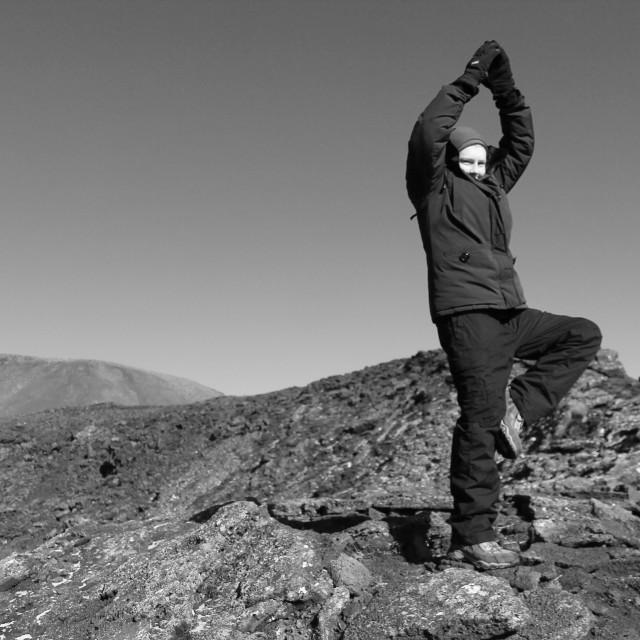 """Mountain Yoga"" stock image"