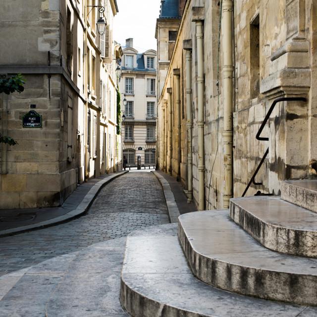 """""""Latin Quartier in Paris"""" stock image"""