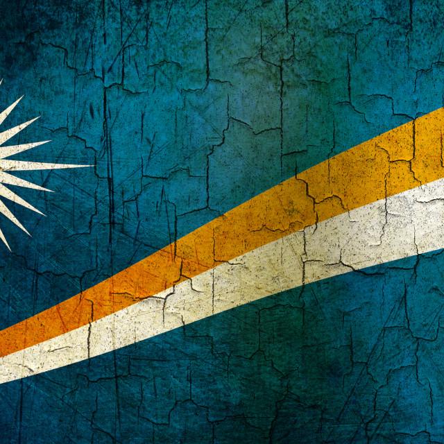 """Grunge Marshall Islands flag"" stock image"