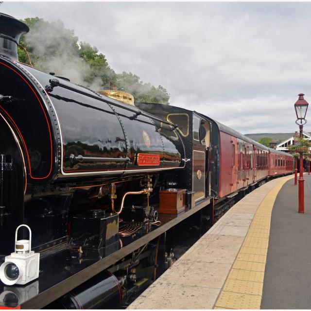 """LAST TRAIN TO KIRKBY STEPHEN"" stock image"