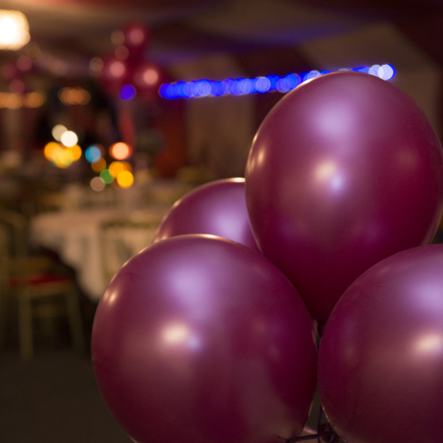"""Balloons at Wedding"" stock image"
