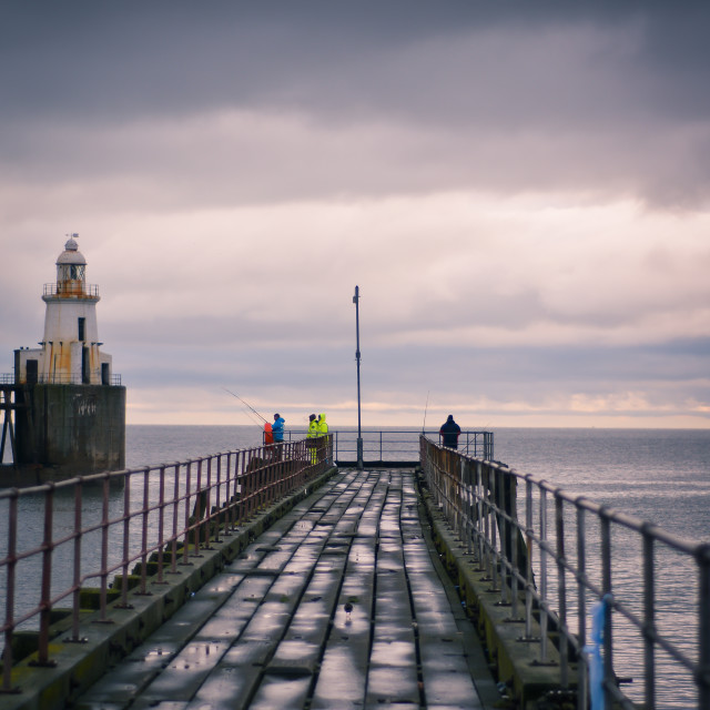 """""""Blyth Pier"""" stock image"""