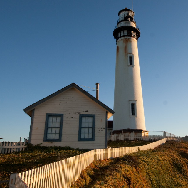 """Lighthouse at Pigeon Point"" stock image"
