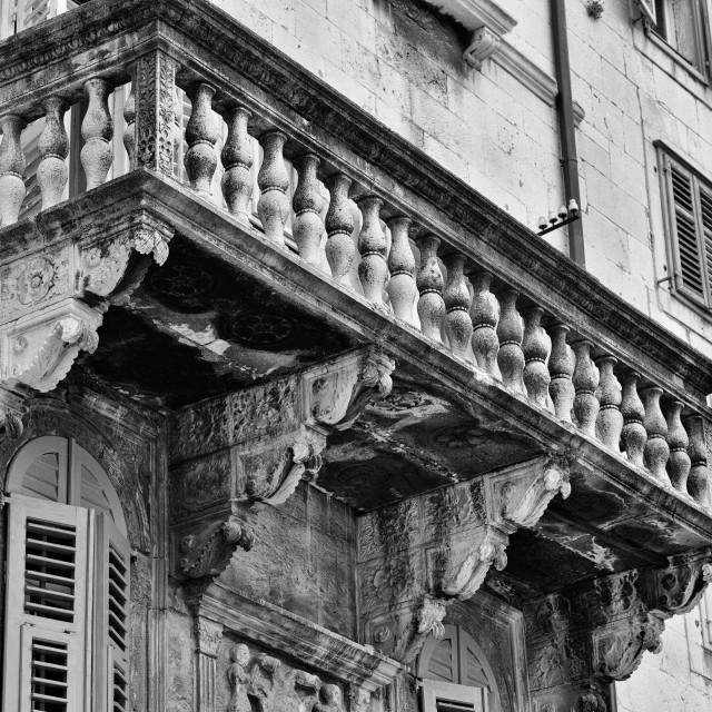 """""""venetian balcony"""" stock image"""