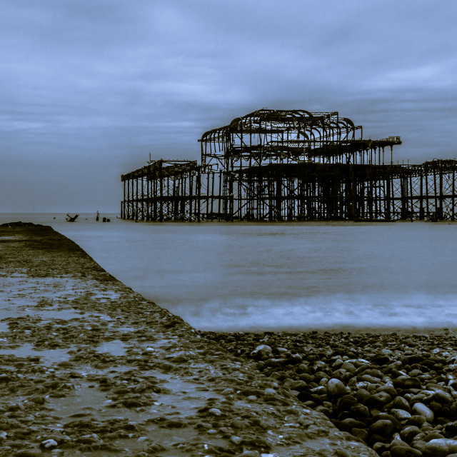 """Bleak Brighton"" stock image"