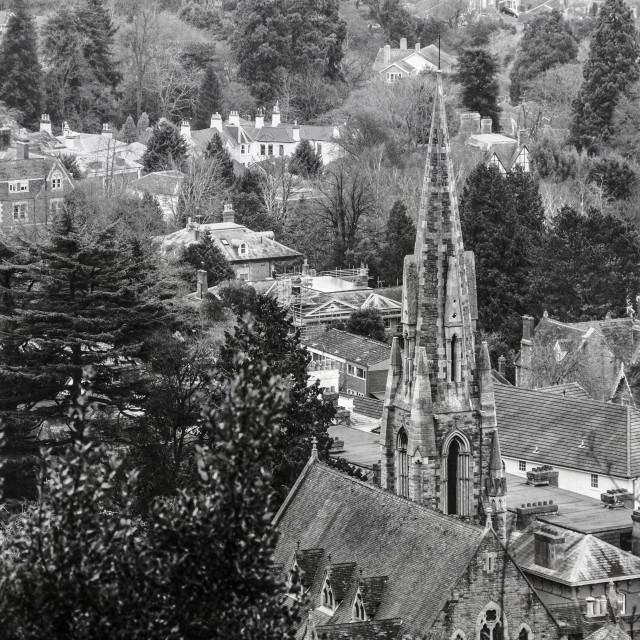 """Church in Malvern"" stock image"