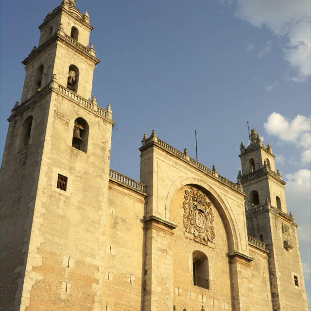 """Cathedral in Merida, Yucatan, Mexico"" stock image"