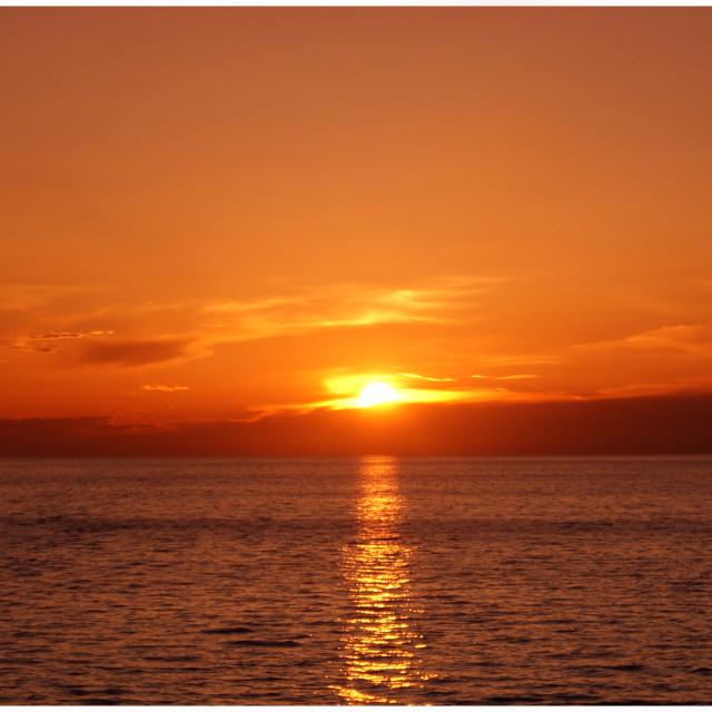 """SUNSET IN ALASKA"" stock image"
