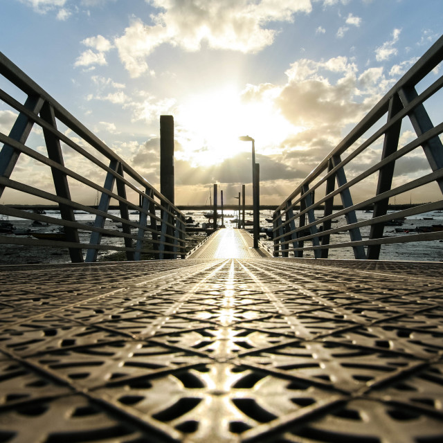 """""""View down the Causeway"""" stock image"""