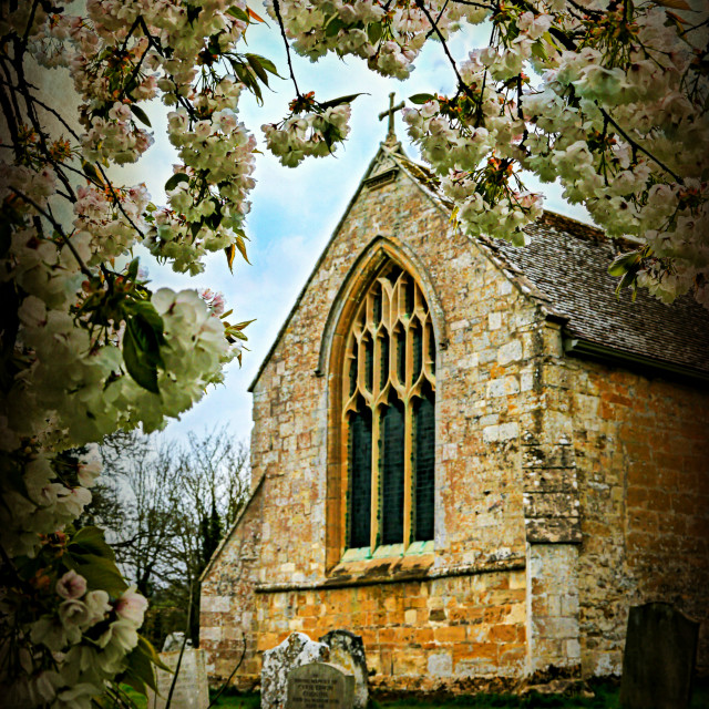 """St Peter's Church, Dumbleton."" stock image"