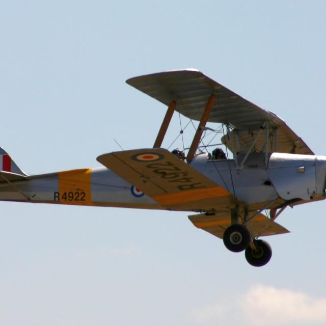 """De Havilland DH 82a Tiger Moth R4922"" stock image"