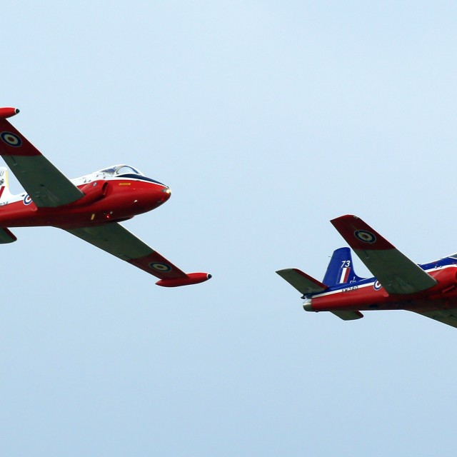"""""""A pair of Jet Provosts"""" stock image"""