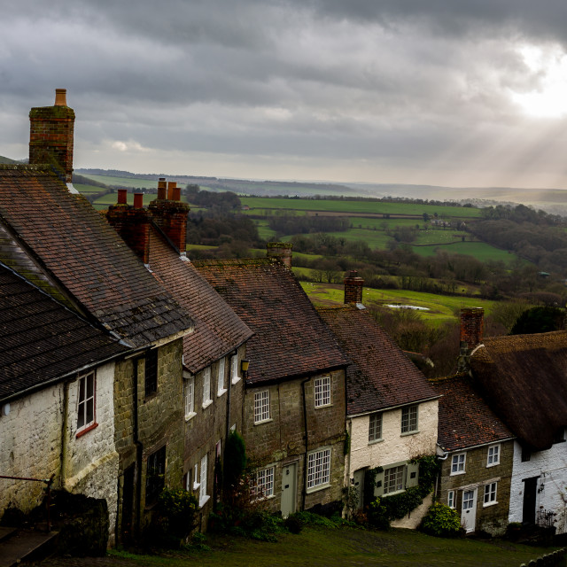 """Gold Hill, Shaftesbury, Dorset, UK"" stock image"