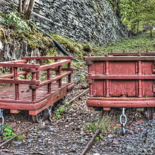"""LLanberis Slate Quarry"" stock image"