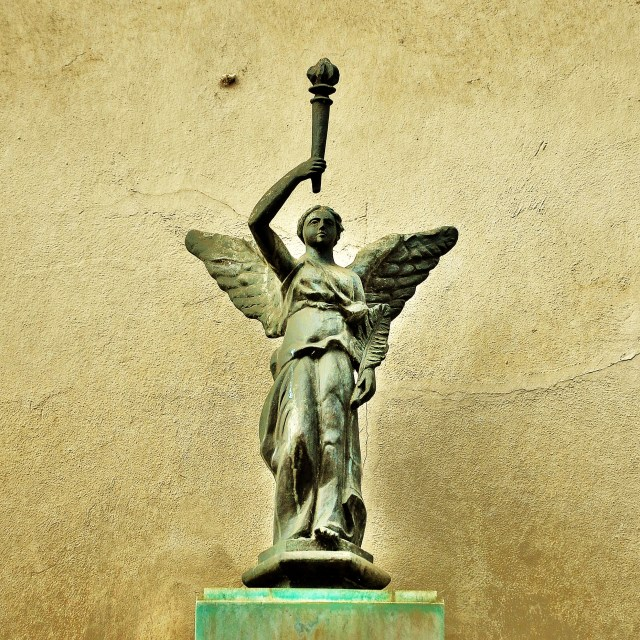"""Angel with Torch"" stock image"