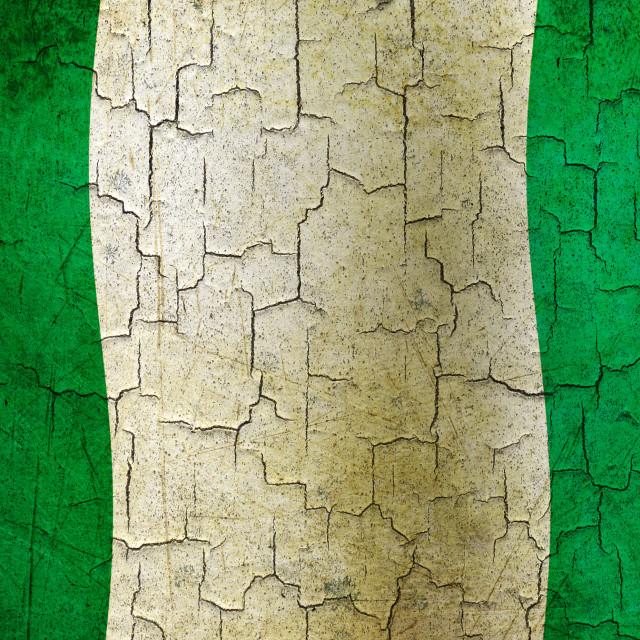 """Grunge Nigeria flag"" stock image"