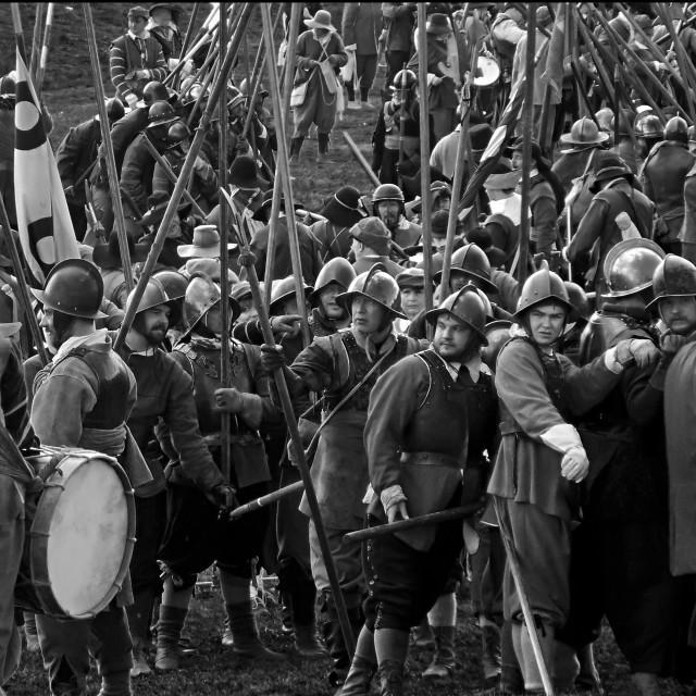 """Civil war re-enactment"" stock image"